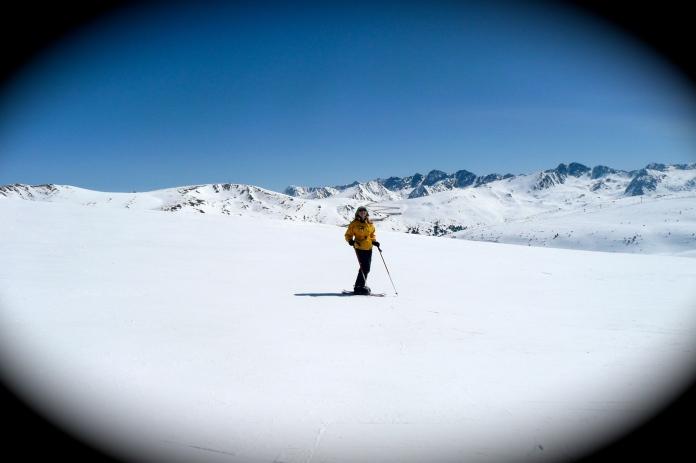 mi mami esquiando andorra