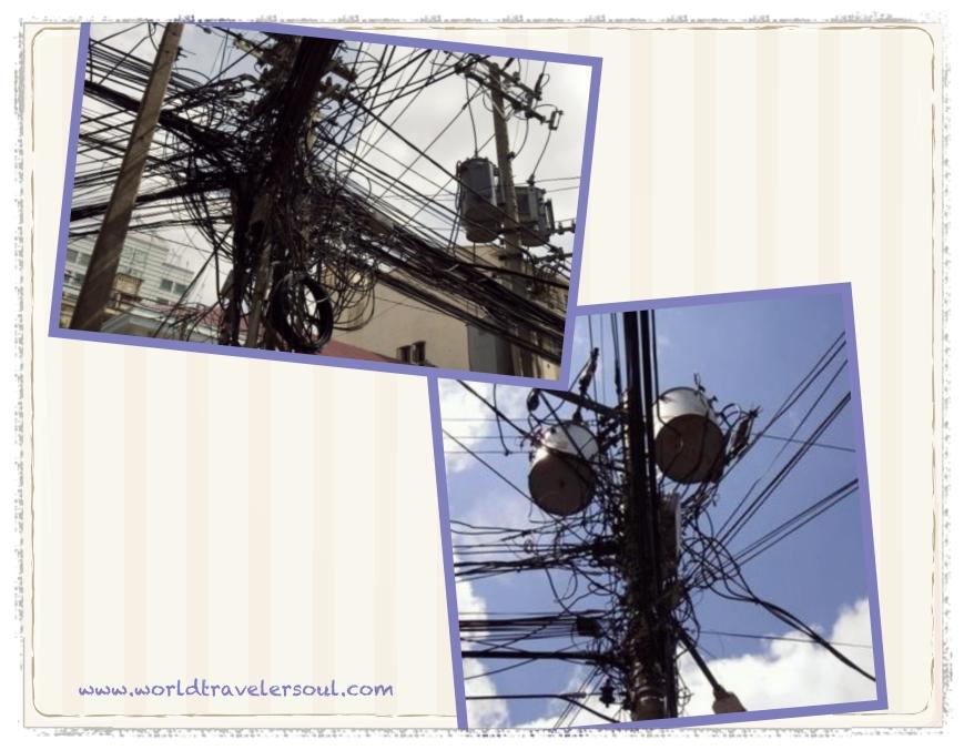 Cableado eléctrico en Vietnam.
