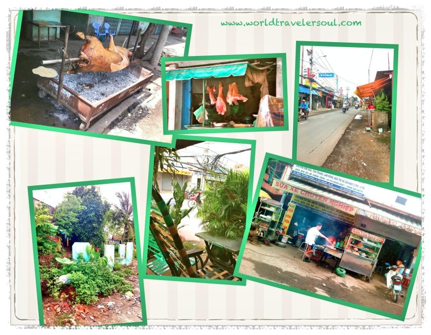 Barbacoa en plena calle, carnicería al aire libre, tumbas en el jardín de casa, terracita con internet y puestecito de comida.