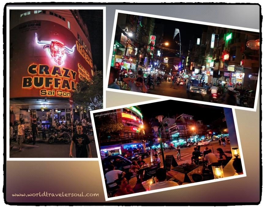 Ambiente nocturno en Ho Chi Minh City.