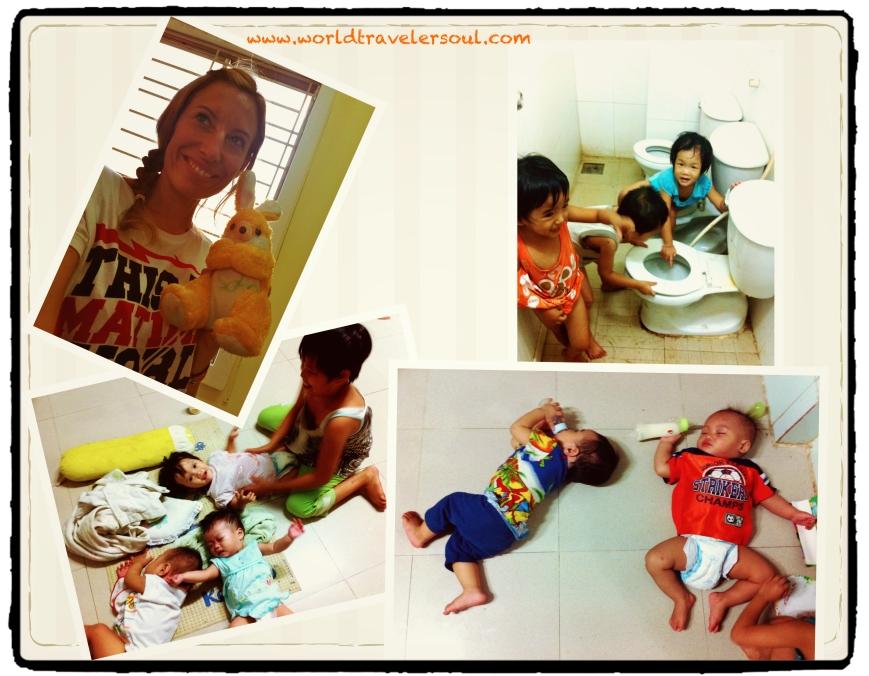 Regalo peluche de Sonh, Nhi jugando con los bebés, niños haciendo de las suyas en el baño y siesta de grandullón y de baby old man.
