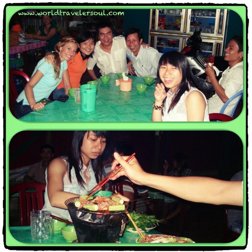De cervecitas con los amigos de Trang.