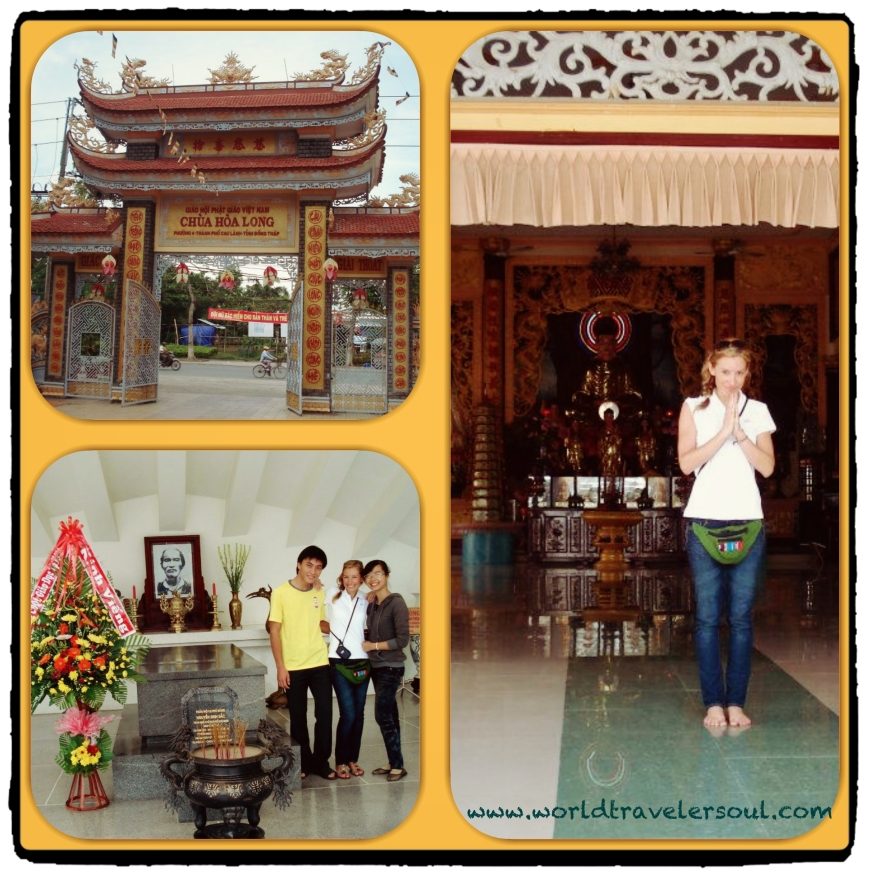 Templos en la zona de Cao Lanh.