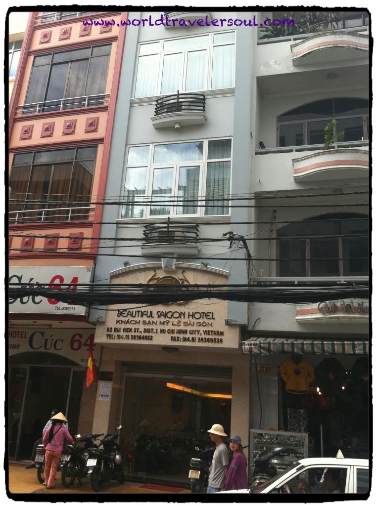 Fachada del Hostel Beautiful Saigon