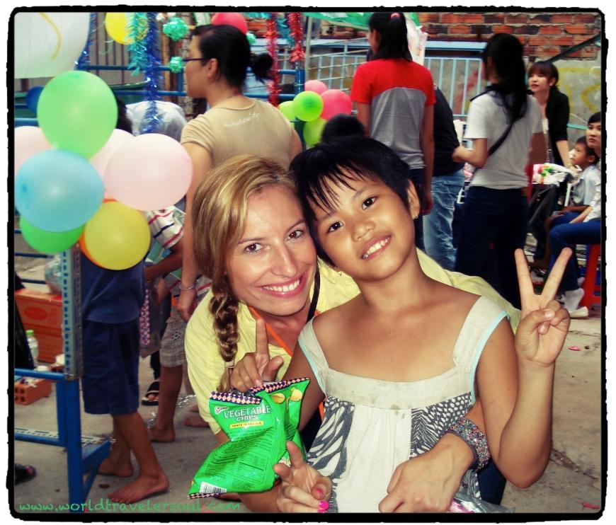 Foto con Nhi en la fiesta de Otoño.