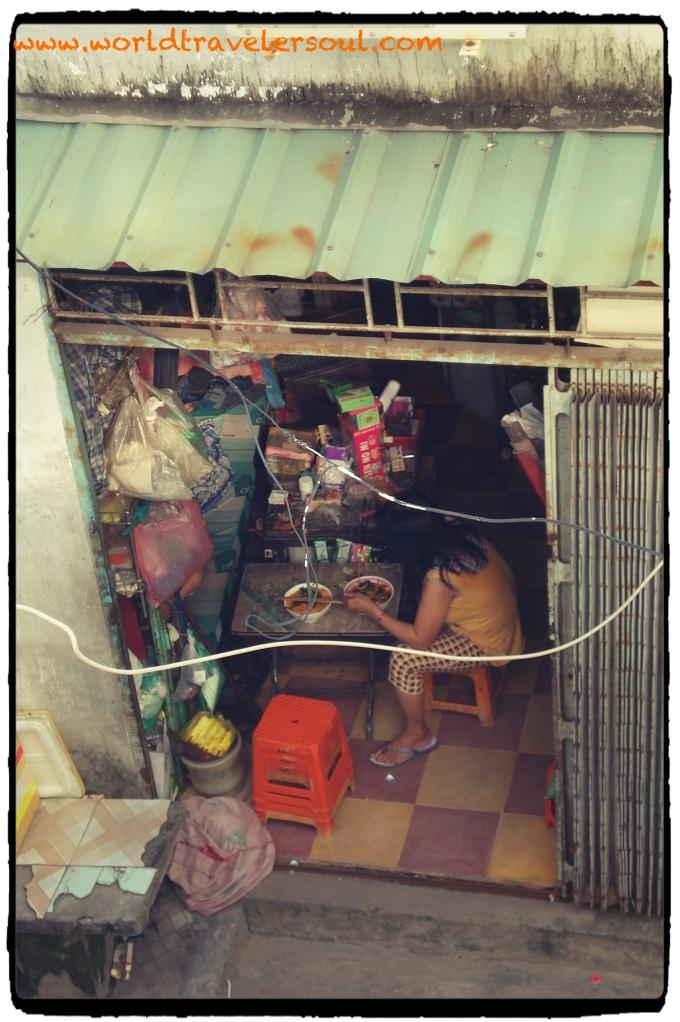 Casa de la vecina del orfanato, donde me prepararon el café.