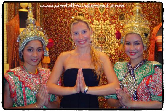 Respetuoso saludo tailandés.