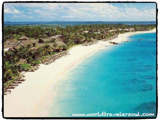 Panorámica de una de las playas en Mauricio.