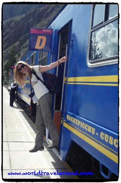 Tren camino a Aguas Calientes para llegar hasta el Machu Picchu