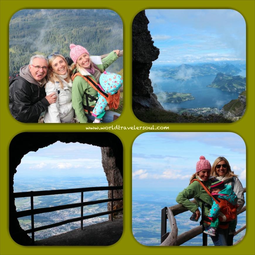 Ascenso a la cima, vistas panorámicas, cueva Pilatus.