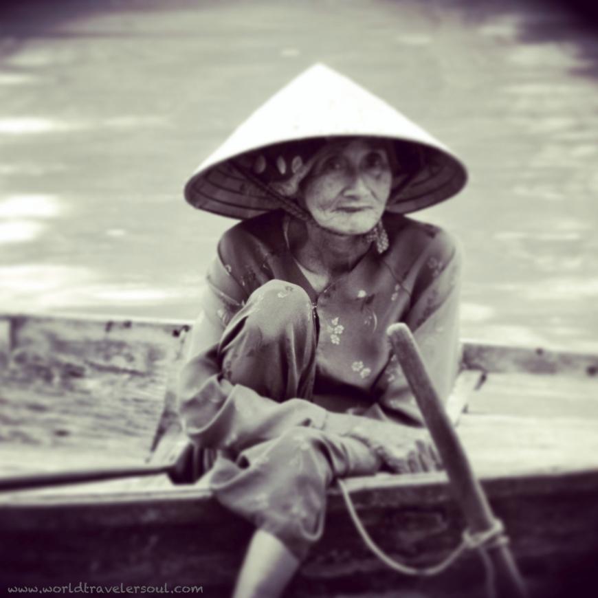 anciana vietnamita. Hoi An