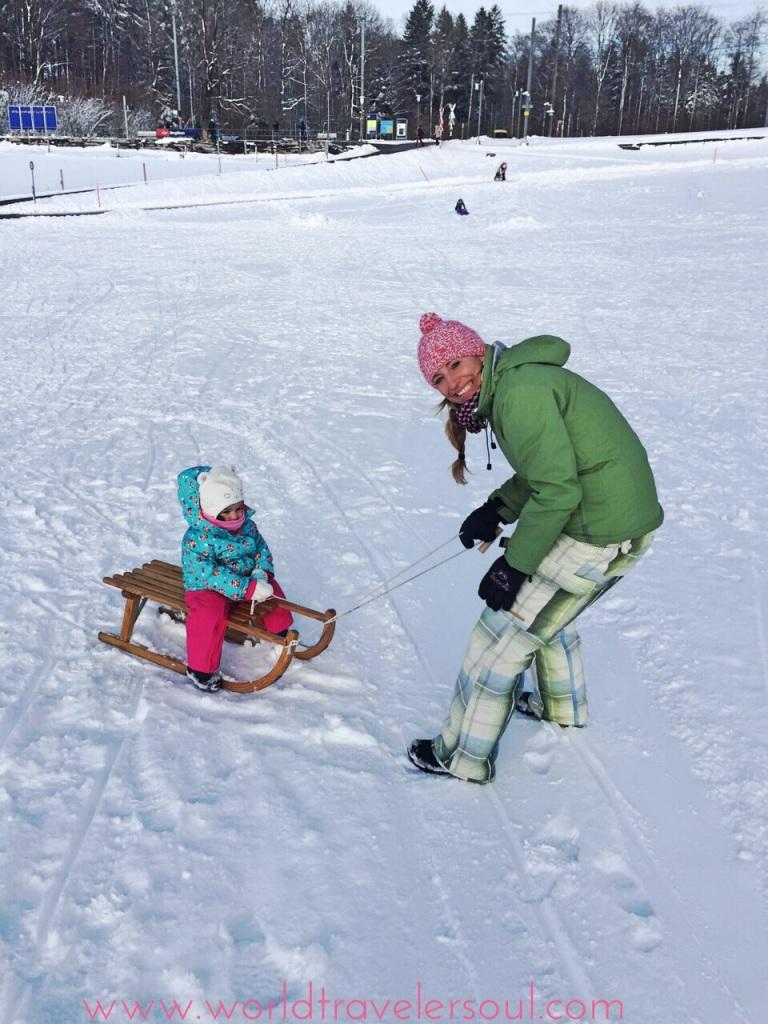 trineo bebés suiza